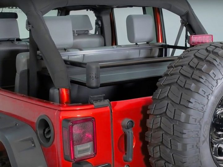 The TeraFlex JK rear utility cargo rack