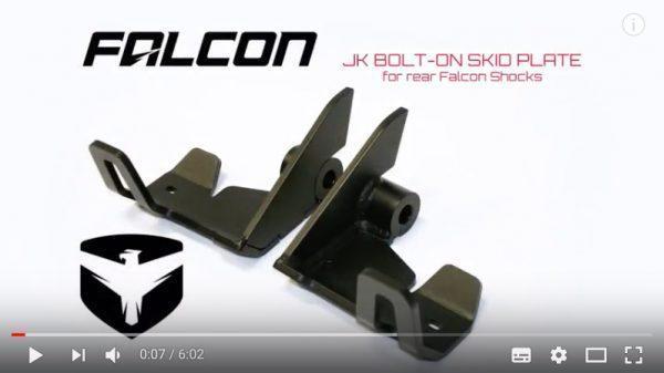 plaques de protection arrière amortisseur Falcon PiggyBack pour JK et JKU