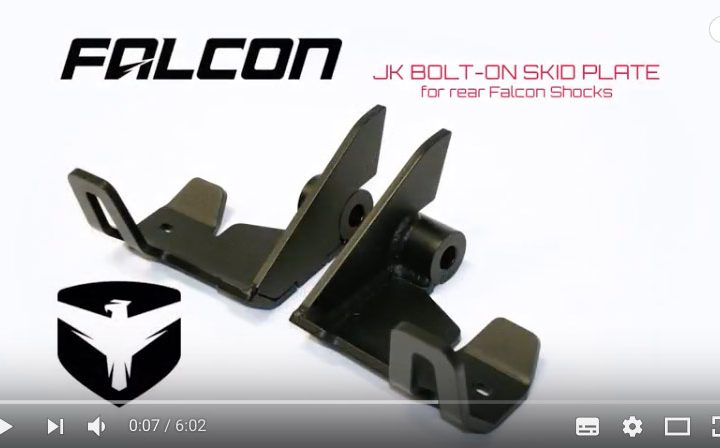 Falcon Shocks Install: JK Bolt-On Rear Shock Skid Plate TERA 36-07-01-200