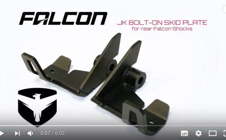 Les plaques de protection arrière amortisseur Falcon PiggyBack pour JK et JKU