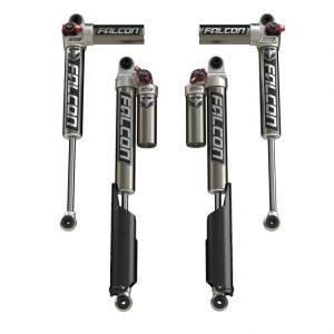 "JL 2-Door: 0-1.5"" Lift Falcon Series 3.3 Fast Adjust Piggyback Shock Absorbers - All 4"